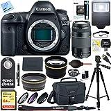 Canon EOS 5D Mark IV 30.4 MP Full Frame CMOS DSLR Camera (Body) & 75-300mm Lens Ultimate Bundle
