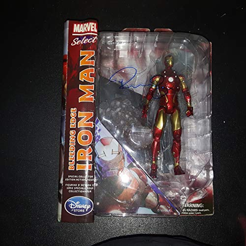 - Robert Downey Jr - Autographed Signed Marvel Diamond Select Iron man Figure Toy COA