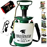 OUTBACKTUFF Sprayminator 1.32 Gal (5 L) Pressure Pump Sprayer + Maintenance Kit (11 pieces), Curved Brass Wand, Extra Large Hose (56 Inch) Review