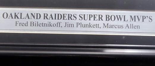Jim Plunkett /& Marcus Allen PSA//DNA Oakland Raiders Super Bowl MVPs Autographed Framed 8x10 Photo SB MVP With 3 Signatures Including Fred Biletnikoff