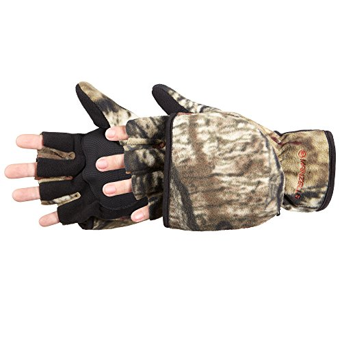 Manzella Productions 012894 Mens Bowhunter Convertible Glove, Mossy Oak, Extra Large