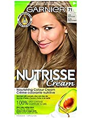 Garnier Nutrisse Cream, Permanent Hair Colour, 623 Crystal Fizz, 100% Grey Coverage, Nourished Hair Enriched With Avocado Oil, 1 Application