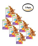 PACK OF 7 - SmartyKat Flutter Balls Set of 2 Catnip and Feather Cat Toys
