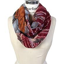 Scarfand's Romantic Rose Print Lightweight Infinity Scarf Head Wrap