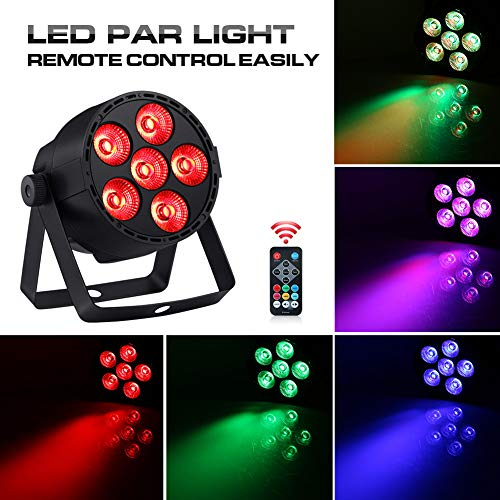 Par Lights 24W 4IN1 RGBW LED Stage Light by DMX IR Remote Control Sound Activated for Club Wedding DJ Live Show Party Led Par Can Uplight Wash Lights