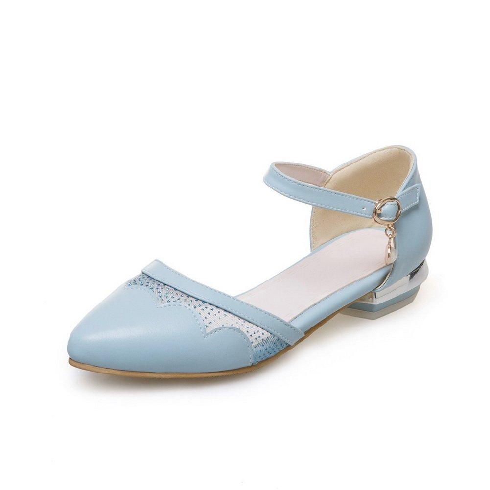 AdeeSu SLC04270 - Sandalias con cuña Mujer 36 2/3 EU|Azul