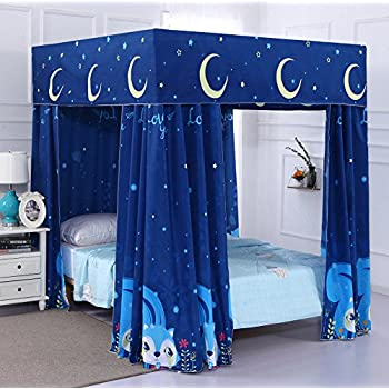 Mengersi moon star 4 corners post bed curtain - Black canopy bed curtains ...