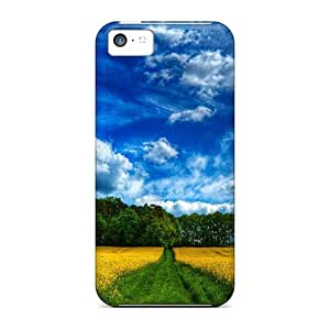 Durable Defender Case For Iphone 5c Tpu Cover(fields Of Yellow Flowers Hdr) by Maris's Diary