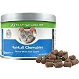 Only Natural Pet Hairball Remedy for Cats - Helps Control Hairball Formation and Shedding in Healthy Feline Cats - 60 Soft Chews