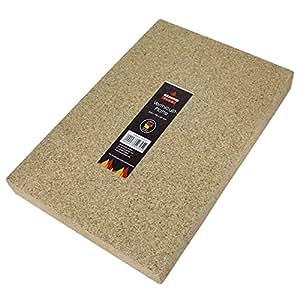 Kamino-Flam Plancha protectora de vermiculita, para chimenea, estufa, horno y barbacoa, resistente a altas temperaturas hasta 1100°C, color beige, 30x20x3 cm