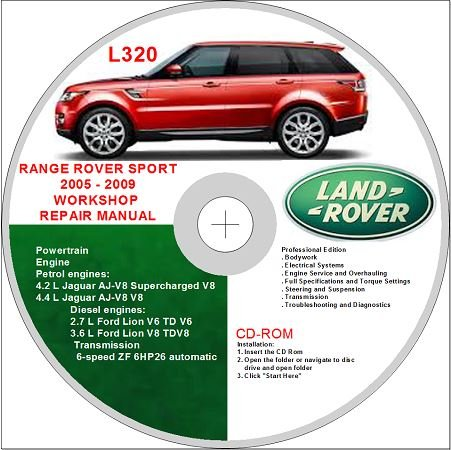 land rover range rover sport l320 2005 2009 workshop repair manual rh amazon co uk Range Rover Diesel Engine 2001 Range Rover Engine Bay