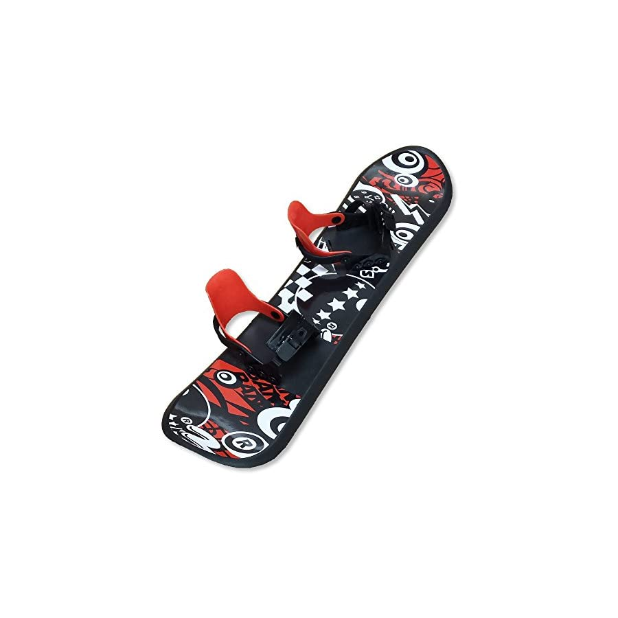 Grizzly Snow 95cm Deluxe Kid's Beginner Red and Black Snowboard