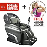 Zero Gravity Deep Tissue Shiatsu Reclining Massage Chair. Osaki 7200CR with Computer Body Scan and Heat Therapy for Customized Pain Relief and Relaxation (Charcoal)