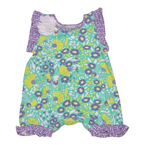 (Flap Happy Girls' Seraphina Fluter Sleeve Romper with Snap Crotch, Garden Fairies,)