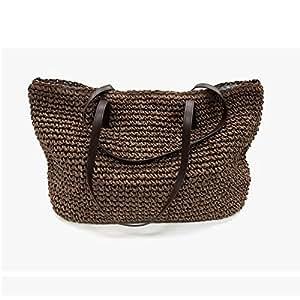 Amazon.com: MU.RTY Summer Women Durable Weave Straw Beach ...