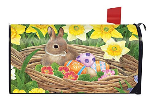 Briarwood Lane Easter Egg Basket Magnetic Mailbox Cover Holiday Bunnies Easter Eggs Mailbox Cover