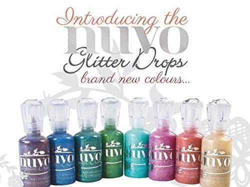 (Nuvo Glitter Drops Set Of 8 - Emerald City, Dazzling Blue, Orange Soda, Honey Gold, Sunlit Meadow, Chocolate Fondue, Aquatic Mist & Pink Champagne (Kit) )