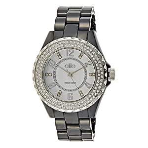 ELITE E53274/203 ELITE S/S + CERAMIC ROUND CASE STONES 5 ATM Watch for- Women