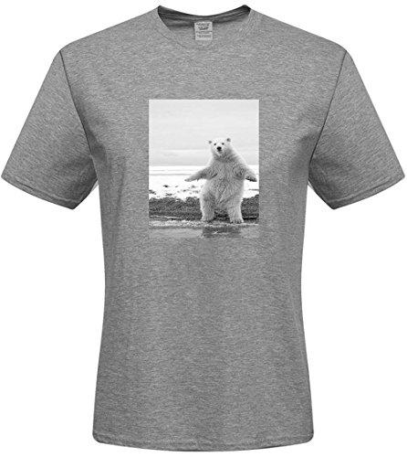 DIY mens Polar Bear T-shirts,custom cotton Tshirt