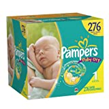 Pampers Baby Dry Diapers Economy Plus Pack Size 1, 276 Count