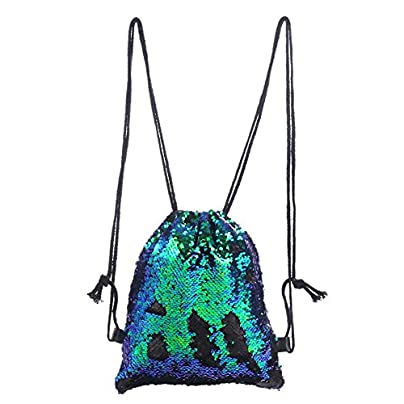 drawstring backpack waterproof bag gym travel sport storage folding wristband magic reversible sequins glitter hiking shoulder draw string festival handbag for Symphony color fashionable ladies Estimated Price -
