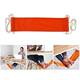 MS.CLEO Mini Portable Office Foot Hammock-Adjustable Under the Desk Comfortable for Your Footrests at Working (Orange)