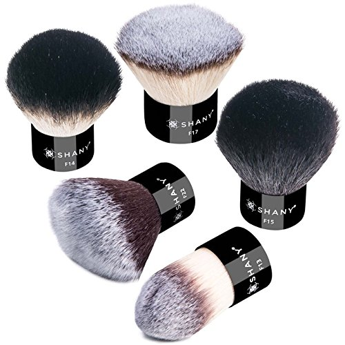 SHANY Pro 5 Piece Essential Kabuki Brush Set Synthetic and Natural Hair, X-Large