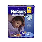 Huggies Overnites Diapers Featuring Sleepy Winne Pooh, Unisex Size 5, 40684 (Case of 84)