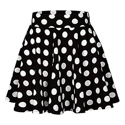 UOFOCO Summer Skirt for Women Fashion Party Cocktail Dot Printed Skirt High Waist Midi