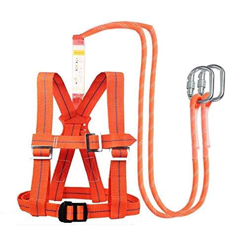 Kylinlkj Climbing Harness, Waistbelt Wider Safe Seat Belts for Mountaineering Fire Rescue Higher Level Caving Rock Climbing Rappelling Equip Women Man Child Half Body (Equip Rescue)