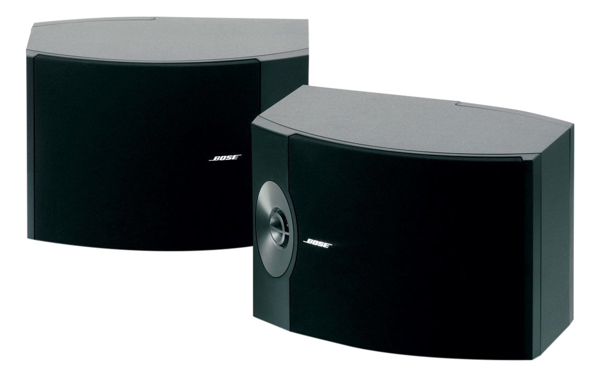 BOSE 301-V Stereo Loudspeakers 1 Horizontal design fits easily on bookshelves. Spatial Dispersion speaker lens creates a smoother high frequency spatial response and wider distribution of sound Exceptional performance as front left and right speakers in a home theater (best matched with BOSE VCS-10 Center Channel and BOSE 161 Surround Speakers) Bass reflex design for high impact. Each speaker (H x W x D): 9.75 x 14.25 x 9.75 inches