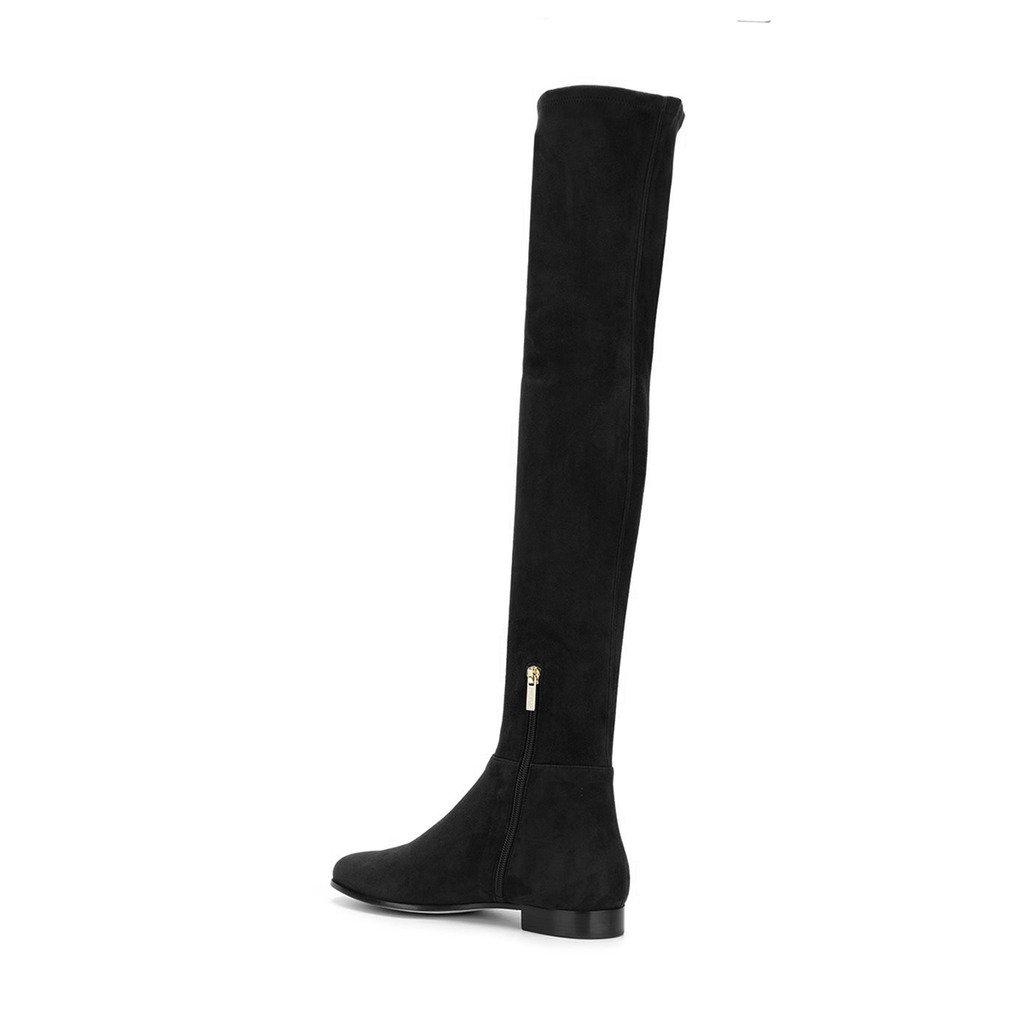 Amazon.com: YDN Suede botas sobre la rodilla de caña alta ...