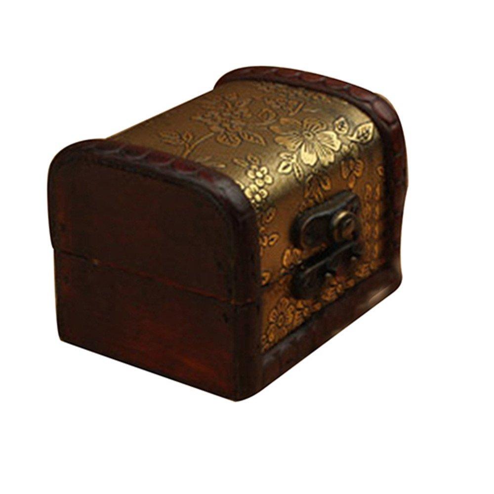 Colorido Vintage Wooden Jewelry Box Organizer Necklace Storage Case