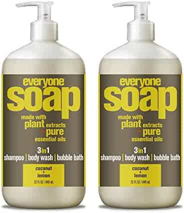 Everyone 3-in-1 Soap, Coconut and Lemon, 32 Ounce, 2 Count