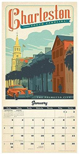 American Cities Classic Posters - 2016 Calendar 12 x 12in Photo #2