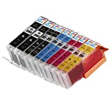 10 Pack - Compatible Ink Cartridges for Canon PGI-250 & CLI-251 XL Inkjet Cartridge Compatible With Canon Pixma MG5420 MG5450 MG5520 MG6320 MG6350 MG6420 MG7120 MX722 MX725 MX922 MX925 iX6820 iX6850 iP7220 iP7250 iP8720 iP8750