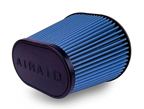 Airaid 723-472 Universal Clamp-On Air Filter: Oval Tapered; 6 in (152 mm) Flange ID; 9 in (229 mm) Height; 10.75 in x 7.75 in (273 mm x 197 mm) Base; 7.25 in x 4.75 in (184 mm x121 mm) Top