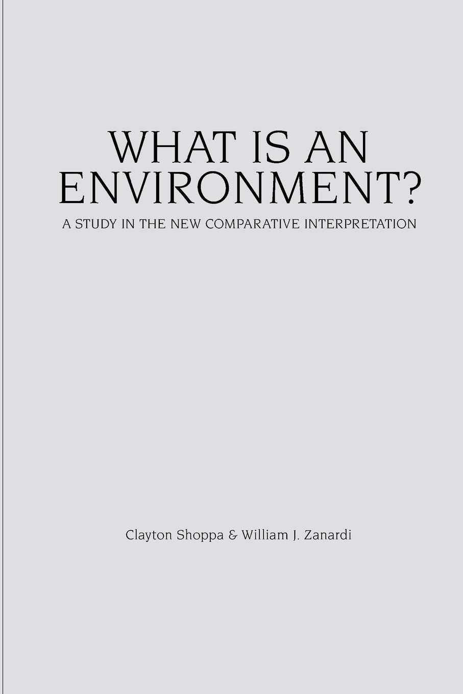 Read Online What Is an Environment?: A Study in the New Comparative Interpretation pdf epub