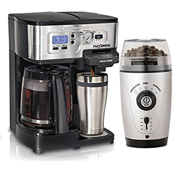 Hamilton Beach 49983 FlexBrew 1-12 Cup CoffeeMaker with 80365 Automatic Grinder