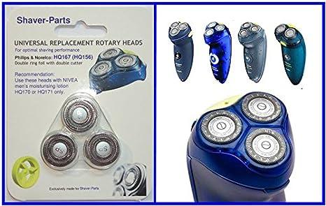 Shaver-Parts HQ167 - Cabezales de repuesto para afeitadoras