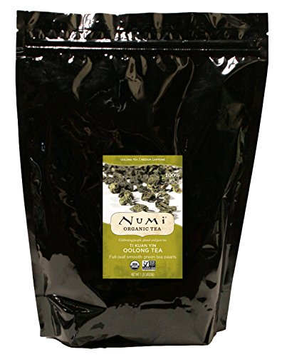 Numi Organic Oolong Tea, Ti Kuan Yin, 1 pound (Packaging May Vary) Whole Leaf Loose Oolong Tea Pearls, Iron Goddess of Mercy, Premium Chinese Fujian Tie Guan Yin,  Medium Caffeine Tea, Hot or Iced