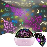 Unicorn Toys for 3-8 Year Old Girls,Star Projection Cute Kids Toys for 2-9 Year Olds Girls 2 in 1 Popular Pres