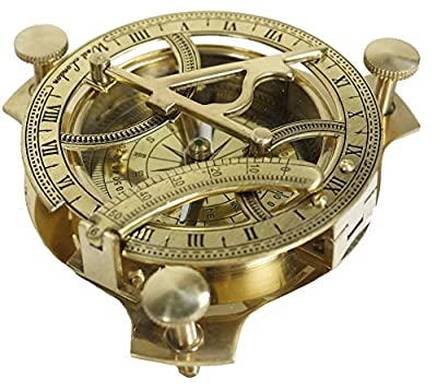 "Zap Impex 3"" Sundial Compasses-Brass Metal Compass Sundial"