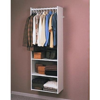 Easy Track RV1472 Closet Hanging Tower Closet Organizer Kit, White, 72 Inch