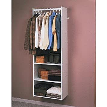 Easy Track RV1472 Closet Hanging Tower Closet Organizer Kit, White, 72-Inch