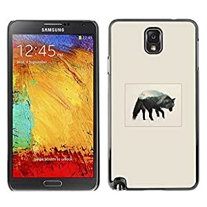 Stuss Case / Funda Carcasa protectora - Gray Wolf Mountain - Samsung Note 3 N9000