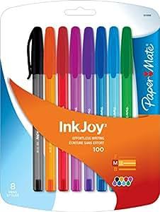 Paper Mate InkJoy 100ST Ballpoint Pen, Medium, Fashion Colors, Set of 8 (1819566)