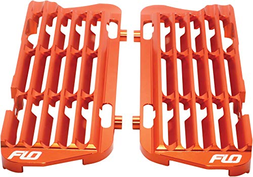 Radiator Braces - 16-19 KTM 250SX: Flo Motorsports High Flow Radiator Braces (ORANGE)