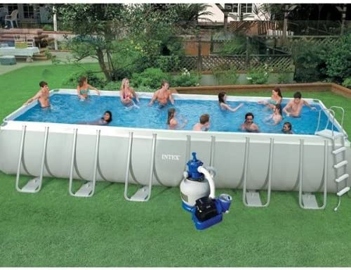 Intex Ultra Silver Intex - Piscina tubular rectangular (7, 32 x 3 ...