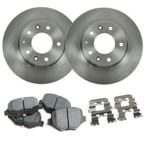 Detroit Axle - REAR Brake Rotors & Brake Pads w/Clips Hardware Kit Premium GRADE for 2006-2012 Ford Fusion - [2006-2012 Lincoln Zephyr/MKZ] - 06-13 Mazda 6 NO MazdaSpeed - [2006-2011 Mercury Milan]